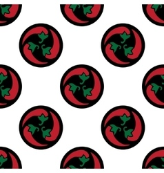 Classic red chili peppers seamless pattern vector