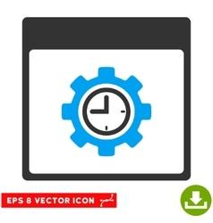 Clock Configuration Gear Calendar Page Eps vector image