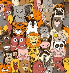 Colorful Seamless Pattern With Animals vector image