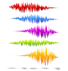 Colorful sound waves waveforms vector