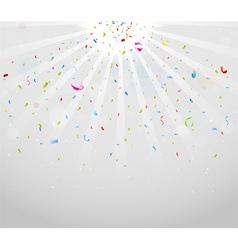 Colorful sparkling confetti on gray vector