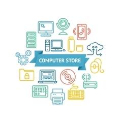 Computer Store Concept vector image