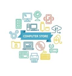 Computer Store Concept vector