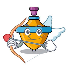 Cupid spinning top character cartoon vector