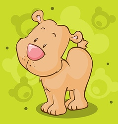 Cute bear cartoon - vector