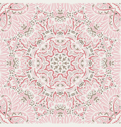cute pink seamless abstract tiled pattern vector image