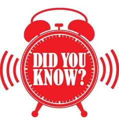 Did you know red alarm clock vector