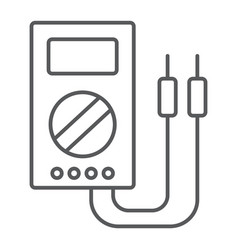Digital multimeter thin line icon tool vector