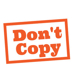 Do not copy stamp on white vector