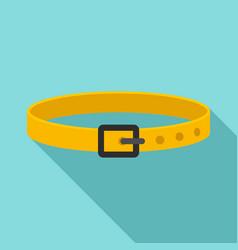 Dog belt icon flat style vector