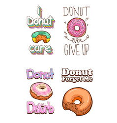 donuts t-shirt quotes vector image