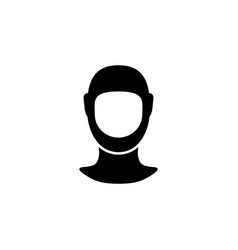 face mask and protective gear glyph icon vector image