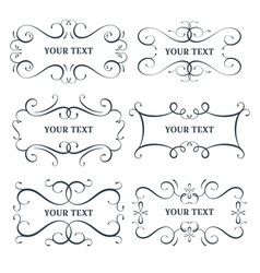 flourish frames set scroll border vector image