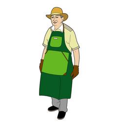 Gardener with an apron vector