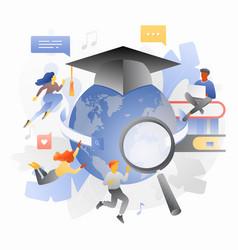Global education metaphor vector
