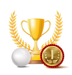 golf achievement award sport banner vector image