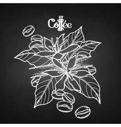 Graphic coffee vignette vector
