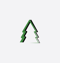 green black christmas tree icon vector image