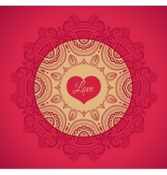 Greeting card with love vector image