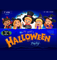 halloween party poster ready design vector image
