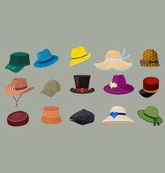 hats male and female fashion clothes retro cap vector image