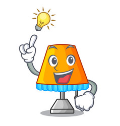 have an idea modern table lamp isolated on mascot vector image