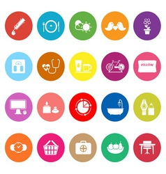 Health behavior flat icons on white background vector image