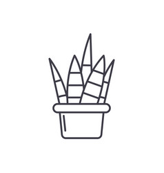 home plant line icon concept home plant vector image