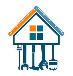 house repair symbol vector image