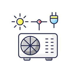 hybrid air conditioner rgb color icon vector image