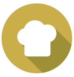 icon chef hat with a long shadow vector image