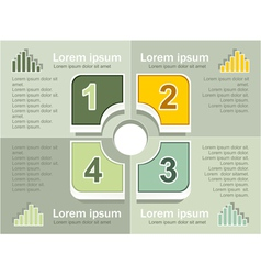 Infographics elements olive background vector image vector image