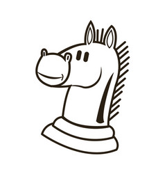 Knight chess horse piece strategy business vector