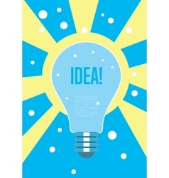 Light bulb idea concept Creative thinking vector image