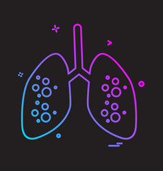 lungs icon design vector image