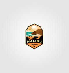 malibu california beach logo design vector image