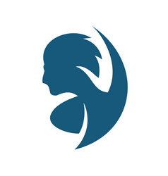 man hairstyle sign vector image