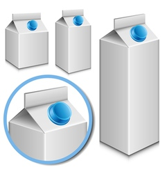 milk carton set vector image