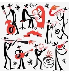 musicians cartoons vector image