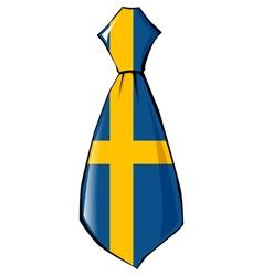 Necktie in national colours of Sweden vector
