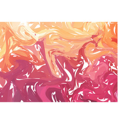 orange and red marble abstract background liquid vector image