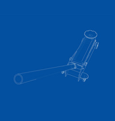 Outline floor car jack vector