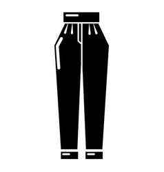 Pant icon simple black style vector