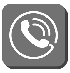 Phone Call Rounded Square Icon vector image
