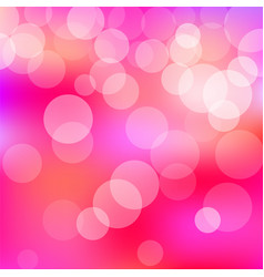 Pink background with bokeh lights vector