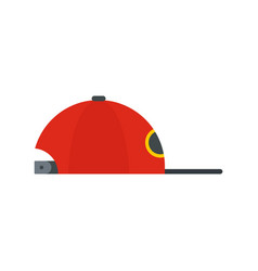 rap cap icon flat style vector image