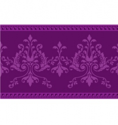 scroll work border vector image