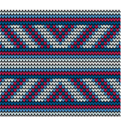 seamless blue lines knitting pattern vector image