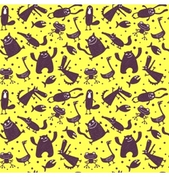 seamless pattern with animals vector image