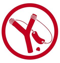 slingshot symbol vector image